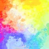 Pobrudzona deseniowa tekstura kwadrata tła światła pełnego koloru widma tęcza akwarela skutek - nowożytna obraz sztuka - ilustracji
