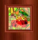 pobrudzony szkła drewno ilustracja wektor