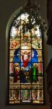 pobrudzony szkła okno Zdjęcia Royalty Free