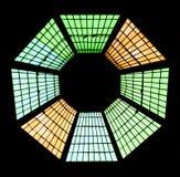 pobrudzony szkła okno obrazy stock