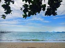 Pobyt uspokaja jak plaża fotografia royalty free