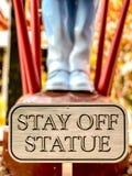Pobyt Z statuy Podpisuje wewnątrz Las Vegas obrazy royalty free