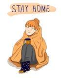 ` pobytu domu `, WEKTOROWY plakat Fotografia Stock