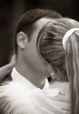 pocałunek na ślub Zdjęcia Stock