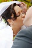 pocałunek na ślub Obraz Royalty Free