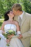 pocałunek na ślub Obraz Stock