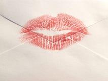 pocałunek zapieczętowane Zdjęcie Stock