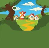 Poca aldea del verano Imagen de archivo libre de regalías