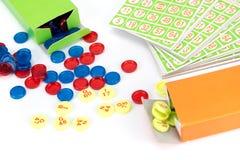 Poca attrezzatura del gioco di bingo Fotografie Stock Libere da Diritti