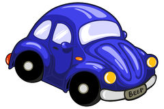 Poca automobile blu fotografia stock