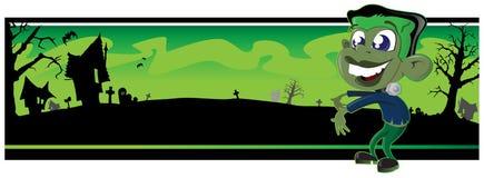 Poca bandiera di Frankenstein Fotografia Stock