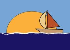 Poca barca Immagine Stock