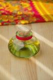 Poca botella de aceite Imágenes de archivo libres de regalías