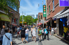 Poca calle en el cuarto de Chinatown de Montreal Fotografía de archivo libre de regalías