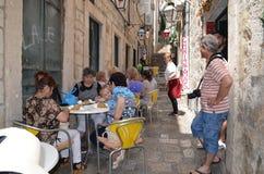 Poca calle en la ciudad vieja de Dubrovnik Fotos de archivo libres de regalías