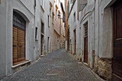 Poca calle en Roma Foto de archivo