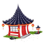 Poca Camera sopra nello stile giapponese Royalty Illustrazione gratis