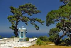 Poca cappella nell'isola di Samos - Grecia Fotografia Stock Libera da Diritti