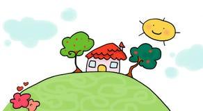Poca casa illustrazione di stock