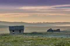 Poca casa en la pradera Imagen de archivo