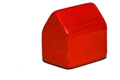Poca casa rossa Immagini Stock