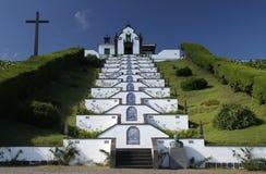 Poca chiesa alle isole 02 delle Azzorre Fotografia Stock Libera da Diritti