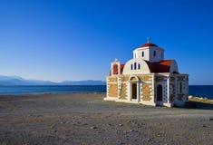 Poca chiesa dal mare Immagine Stock Libera da Diritti