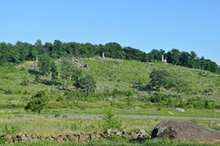Poca cima rotonda, situata a Gettysburg Fotografie Stock Libere da Diritti