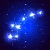 Poca constelación del cazo Imagen de archivo libre de regalías