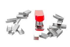 Poca cucitrice meccanica rossa Fotografia Stock Libera da Diritti