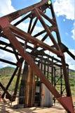 Poca Daisy Mine, Audrey Shaft Head Frame, Jerome, Arizona, Stati Uniti fotografie stock