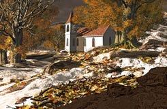 Poca iglesia del país stock de ilustración