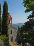 Poca iglesia en Civitella en Italia imagen de archivo libre de regalías