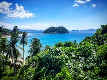 Poca isla en el EL Nido Fotografía de archivo libre de regalías
