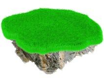 Poca isola dell'erba di volo. Fotografie Stock Libere da Diritti