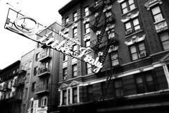 Poca Italia en ciudad de NY Imágenes de archivo libres de regalías