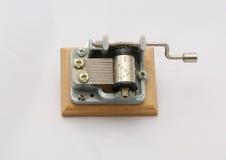 Poca música-caja con madera Imagenes de archivo