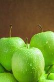 Poca manzana verde Fotos de archivo