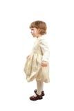 Poca muchacha de baile Lanzamiento del estudio sobre el fondo blanco Imagen de archivo libre de regalías