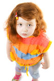 Poca muchacha de la curiosidad Foto de archivo libre de regalías