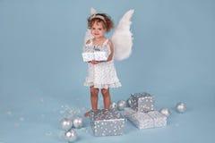 Poca muchacha de la Navidad Imagen de archivo libre de regalías