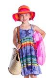Poca muchacha de la playa Fotografía de archivo libre de regalías