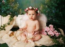 Poca muchacha del ángel Fotografía de archivo
