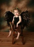 Poca muchacha del ángel Fotografía de archivo libre de regalías