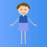 Poca muchacha del vector Fotos de archivo libres de regalías