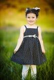 Poca muchacha feliz del verano Fotos de archivo libres de regalías