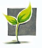 Poca pianta verde illustrazione vettoriale