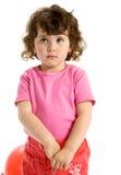 Poca ragazza del ringlet Fotografia Stock Libera da Diritti