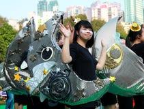 Poca ragazza della luna nella grande parata di finale Immagini Stock