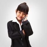 Poca ragazza di affari Fotografie Stock
